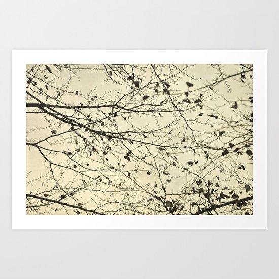boughs neutral Art Print