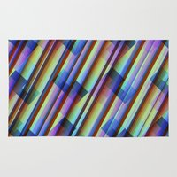 transparent Area & Throw Rugs featuring Colourful Geometric Transparent Pattern by thea walstra