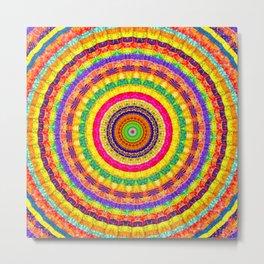 Batik Bullseye Metal Print