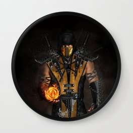 Scorpion Mortal Wall Clock