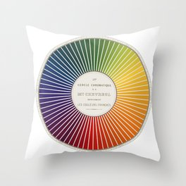 Chevreul Cercle Chromatique, 1861 Remake, renewed version Throw Pillow