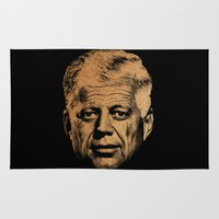 jfk Area & Throw Rugs featuring Forever Old | JFK by teokon