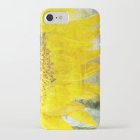 sunflower iPhone & iPod Cases featuring Sunflower by Maria Heyens