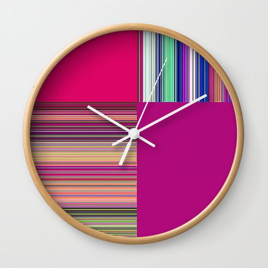 Re-Created  + 4 by Robert S. Lee Wall Clock