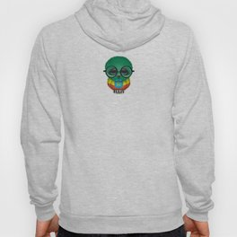 Baby Owl with Glasses and Ethiopian Flag Hoody