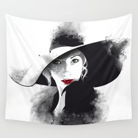 hat Wall Tapestries featuring The Hat by Lorenzo Imperato