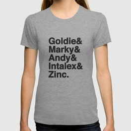Drum and bass Kings, Zinc, Goldie Marky, Intalex and Andy  - Designed for drum and bass lovers T-shirt