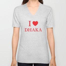 I Love Dhaka Unisex V-Neck