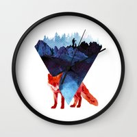 road Wall Clocks featuring Risky road by Robert Farkas