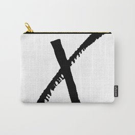 Letter X Ink Monogram Carry-All Pouch