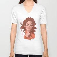 sassy V-neck T-shirts featuring Sassy by MissAnnieKay