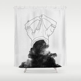Its better to disappear. Shower Curtain