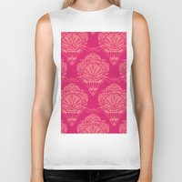 damask Biker Tanks featuring Damask by cactus studio