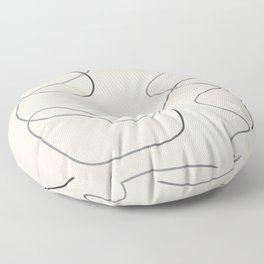 Abstract Line III Floor Pillow