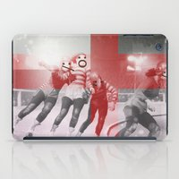 roller derby iPad Cases featuring Punchtuation Roller Derby by Vin Zzep