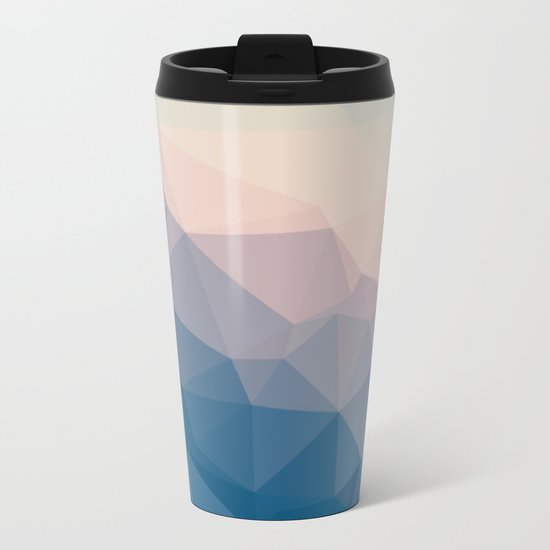 BE WITH ME - TRIANGLES ABSTRACT #PINK #BLUE #1 Metal Travel Mug