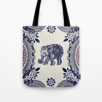 funky Tote Bags featuring Elephant Pink by rskinner1122