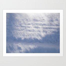 Snowy Treads Art Print