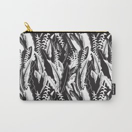 Inner Jungle in Black and White Carry-All Pouch