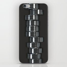 Pattern of brushed metal cylinders iPhone Skin