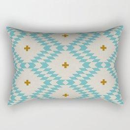 NATIVE NATURAL PLUS TURQUOISE Rectangular Pillow