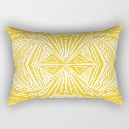 Solana, fall golden mandala Rectangular Pillow