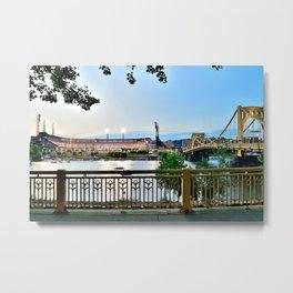 Pittsburgh Riverview Print Metal Print