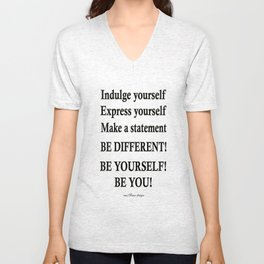 Express yourself! Unisex V-Neck