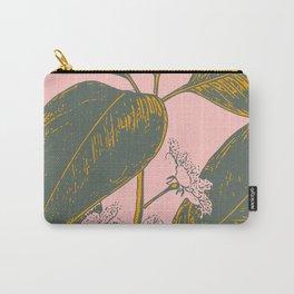 Modern Botanical Banana Leaf Carry-All Pouch