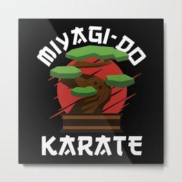 Miyagi-Do Karate Bonsai Tree Gift Metal Print