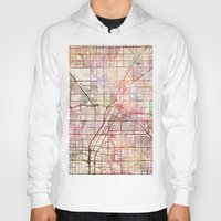 las vegas Hoodies featuring Las Vegas by MapMapMaps.Watercolors