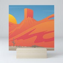 Desert Valley Landscape Scene Mini Art Print