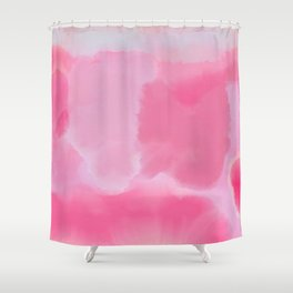 Abstract Hand Painted Pink Lavender Watercolor Shower Curtain