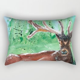 """Deer - Animal - """"Time to relax"""" - by LiliFlore Rectangular Pillow"""