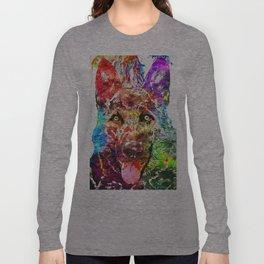 Alsatian Grunge Long Sleeve T-shirt
