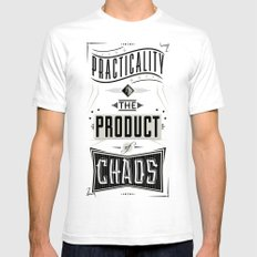 Practicality White Mens Fitted Tee SMALL