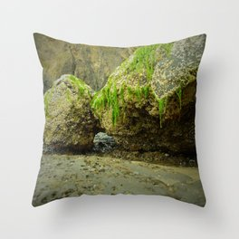 The Mossy Grotto Throw Pillow