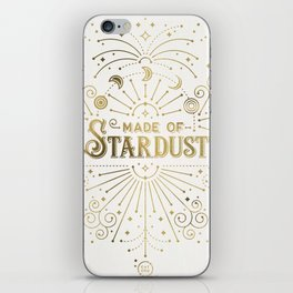Made of Stardust – Gold Palette iPhone Skin