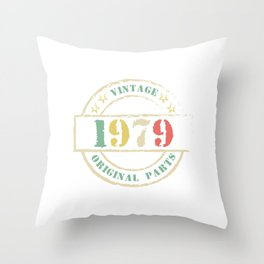 Cool Vintage Retro Birthday Gift For Your Wife And Husband For Their 40th Original Parts Natal Throw Pillow