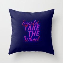 Scarlet, Take the Wheel Throw Pillow