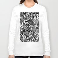 africa Long Sleeve T-shirts featuring Africa by Pumpaillust
