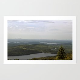 Early Morning Fog Lifting in Acadia National Park Art Print