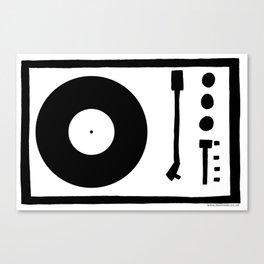 'Record Player' Canvas Print