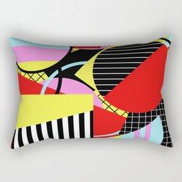 Retro Geometry - Geometric, abstract, bold design Rectangular Pillow