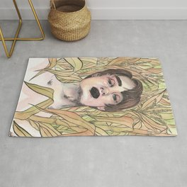Man in the corn field Rug