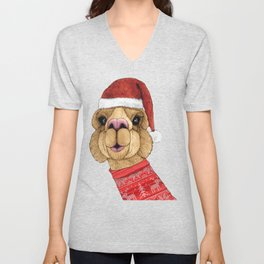Alpaca Christmas Unisex V-Neck