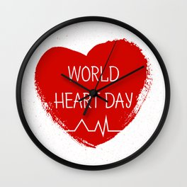 World heart day Wall Clock