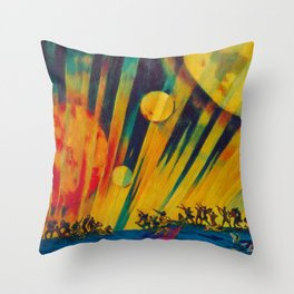 The New Planet, landscape painting by Konstantin Yuon Throw Pillow