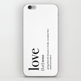 Definition of love iPhone Skin