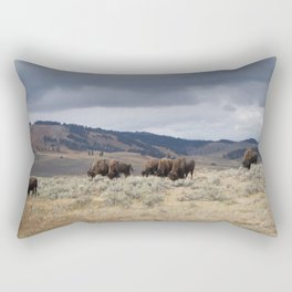 Bison in Yellowstone National Park Rectangular Pillow